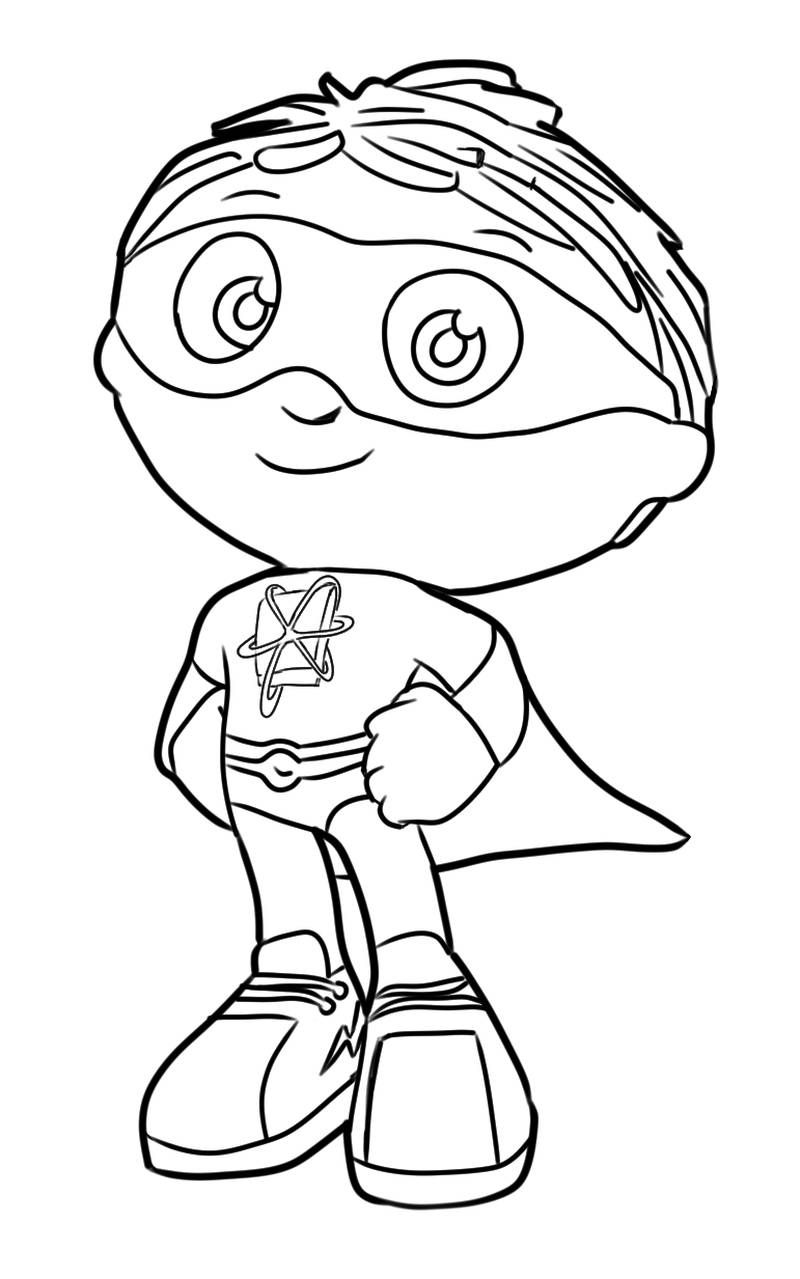 Super Why Coloring Pages PDF Free Download - Coloringfolder.com