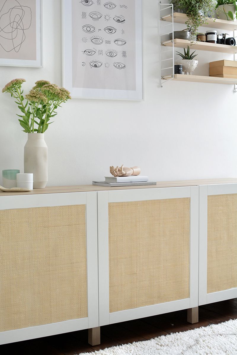 DIY cane sideboard | IKEA hack | Ikea furniture hacks