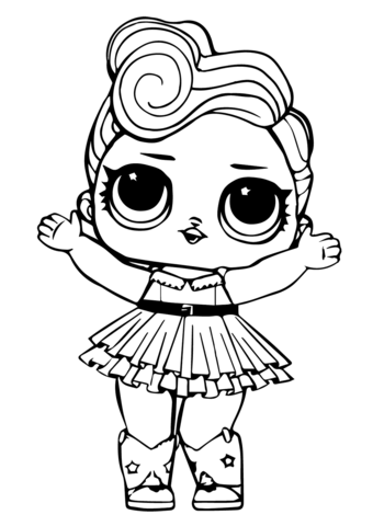Lol Doll Luxe Coloring Page Unicorn Coloring Pages Kids