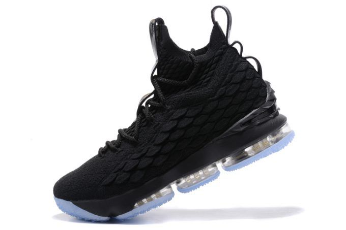 Nike LeBron 15  Triple Black  Men's Basketball Shoes is part of Nike lebron, Basketball shoes, Lebron james basketball, Nike, Jordan shoes for men, Lbj shoes - Having a similar build as Kevin Durant's Nike KD 9, the Nike LeBron 15s will also come equipped with Flyknit and Zoom Air cushioning and rubber outsole for durable traction