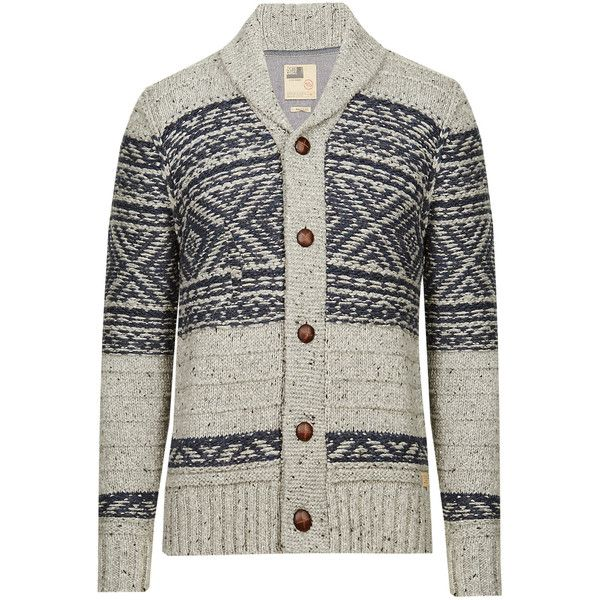 North Coast Shawl Neck Fair Isle Cardigan ($49) ❤ liked on ...