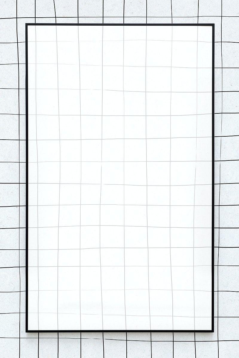 Aesthetic Black Grid Background