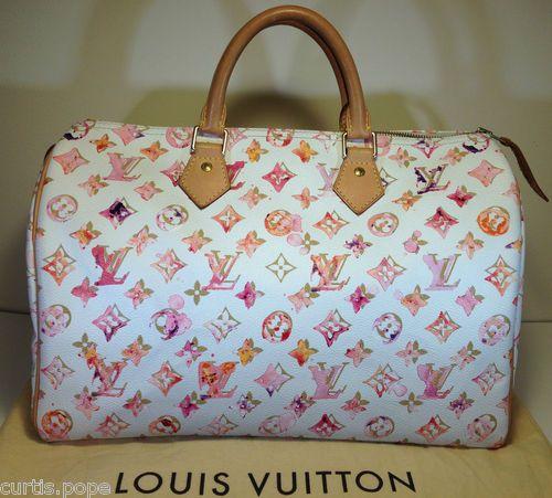 Louis Vuitton Limited Edition Monogram Watercolor Aquarelle Speedy 35 Bag Louis Vuitton Louis Vuitton Limited Edition Bags