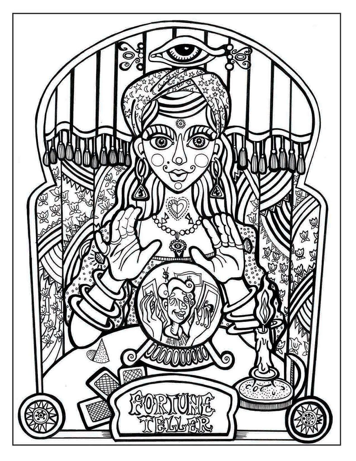 A Day At The Circus On Behance Cool Coloring Pages Adult Coloring Pages Coloring Pages