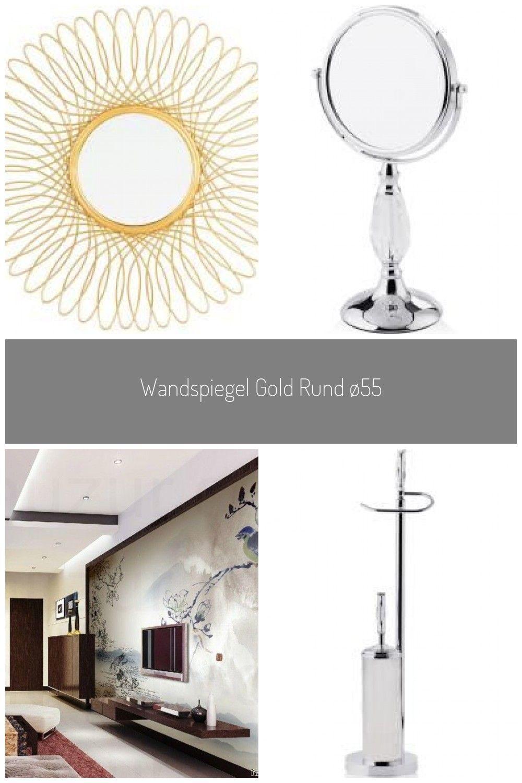 Wandspiegel Gold Rund 55 Cm Cambia Belianibeliani In 2020 Badezimmer Gestalten Wandspiegel Traumdusche