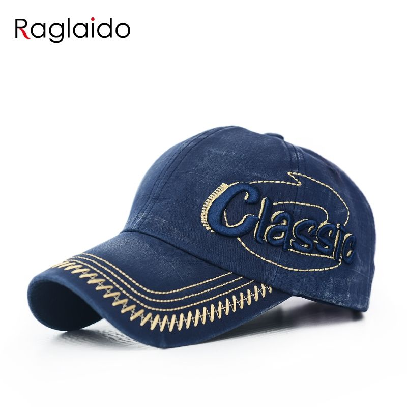 5cdfa4e8248  Raglaido  Embroidery Cotton Baseball Cap Classic Letter Hat Adjustable  Size Washable Outdoor Sun Hats