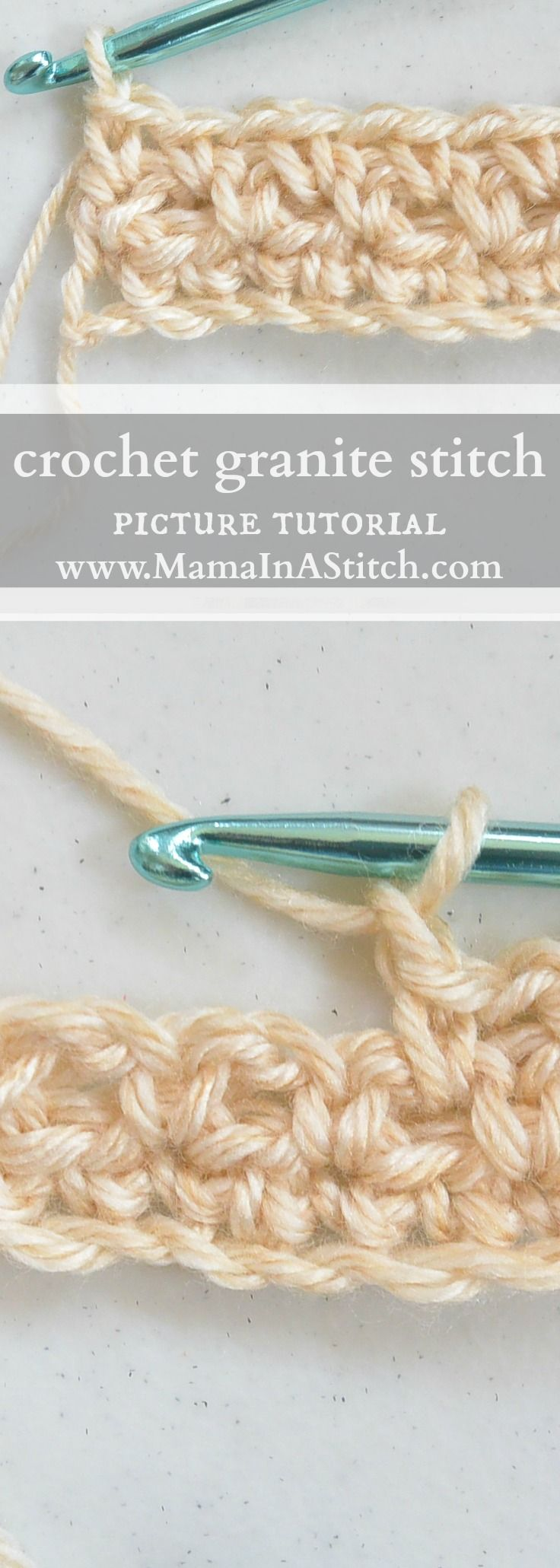 How To Crochet the Granite or Moss Stitch | Almofada leila ...