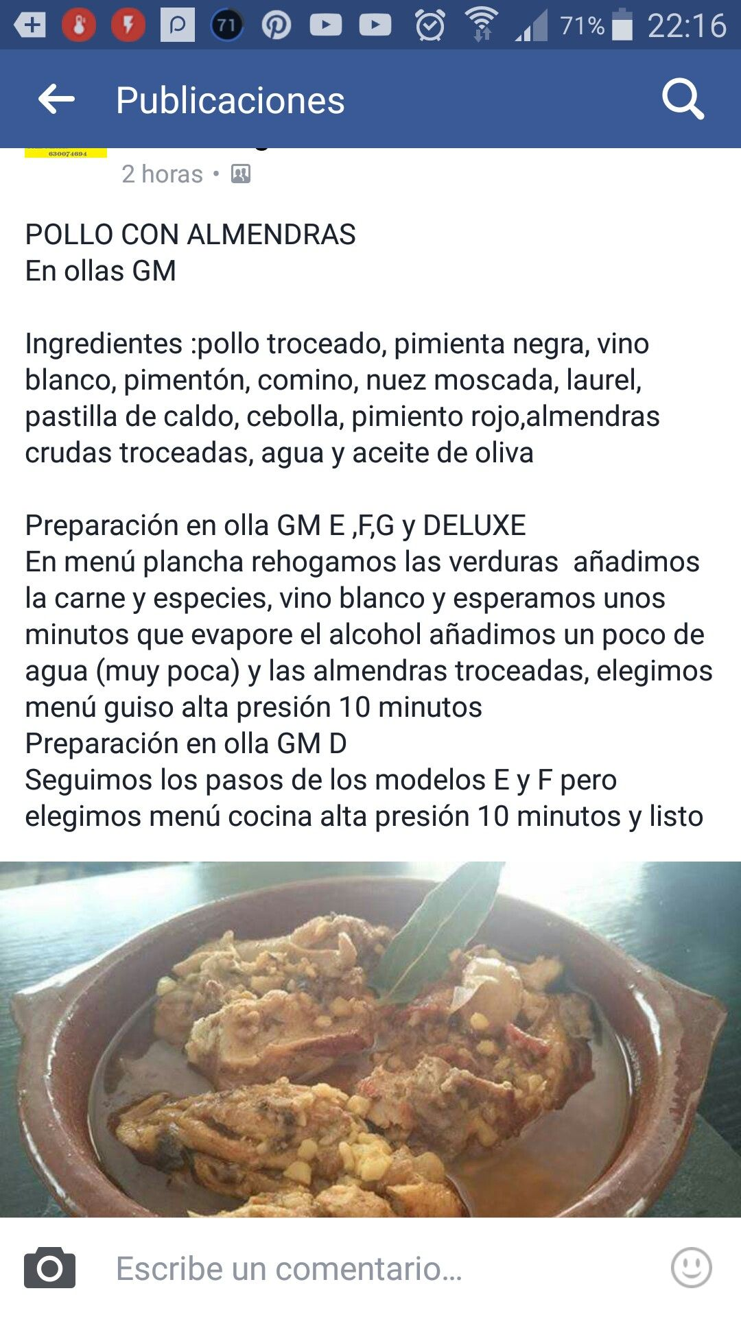 Pollo y almendras | gm carne | Pinterest | Almendras