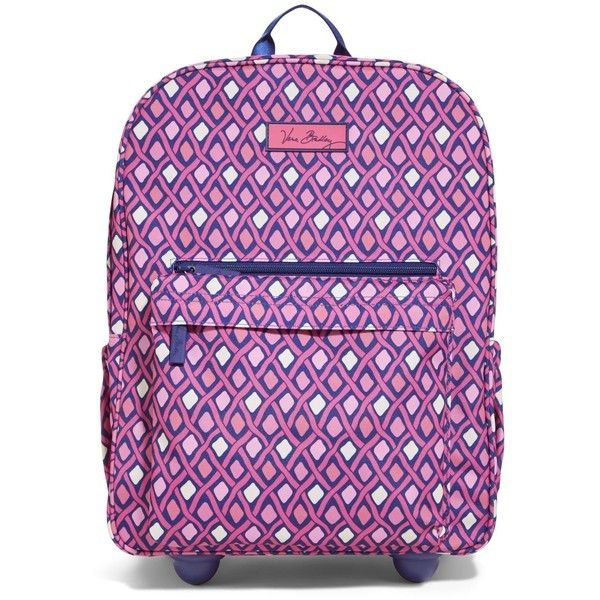 09ba2916e6ea Vera Bradley Lighten Up Rolling Backpack in Katalina Pink Diamonds ( 128) ❤  liked on Polyvore