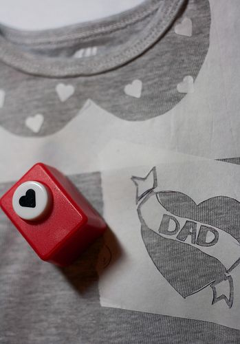 Sweet little collar on a toddler's tshirt using freezer paper stenciling