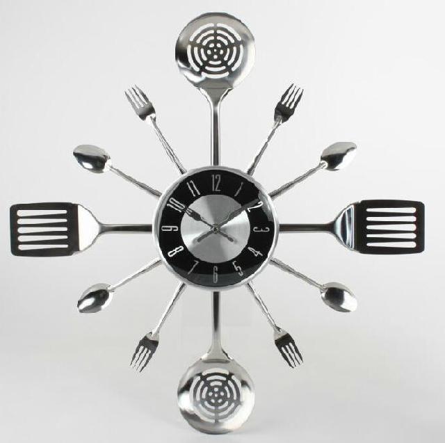 Reloj cocina cubiertos regalos hogar relojes - Utensilios cocina originales ...