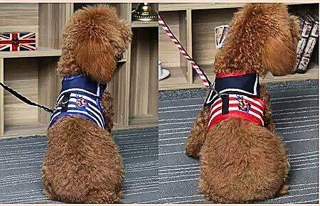 Sailor Vest   Material: polyester cotton  Size (cm)and Price: XS: Neck 18-26 Chest 30-38 Back 18 Price IDR 65 S: Neck 20-28 Chest 32-40 Back 21 Price IDR 70 M: Neck 26-34 Chest 36-44 Back 24 Price IDR 80 L: Neck 32-40 Chest 40-48 Back 27 Price IDR 90 XL: Neck 36-46 Chest 42-52 Back 30 Price IDR 100  Color: Red and Blue READY STOCK  Untuk info lebih lanjut langsung saja hubungi kami ya  #puppies #anjinglucu #bajuanjing #collaranjing #talianjing #harnessanjing #kalunganjing #dogclothing…