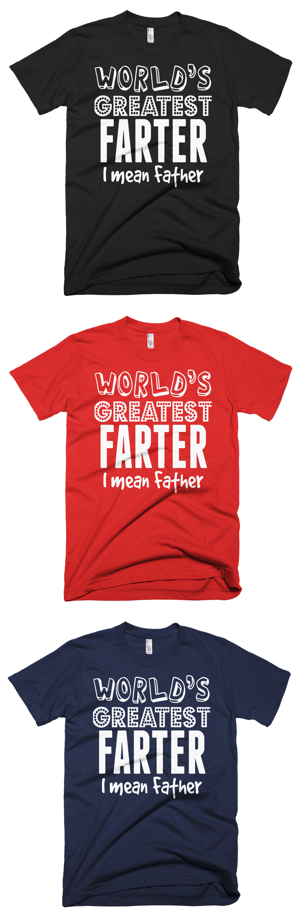 Custom Toddler T-Shirt My Daddy is A Great Farter Mean Father Dad Fathers Day