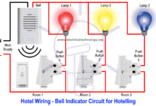 Hotel Wiring Circuit Bell Indicator Circuit For Hotelling Electronic Engineering Indicator Lights Electricity