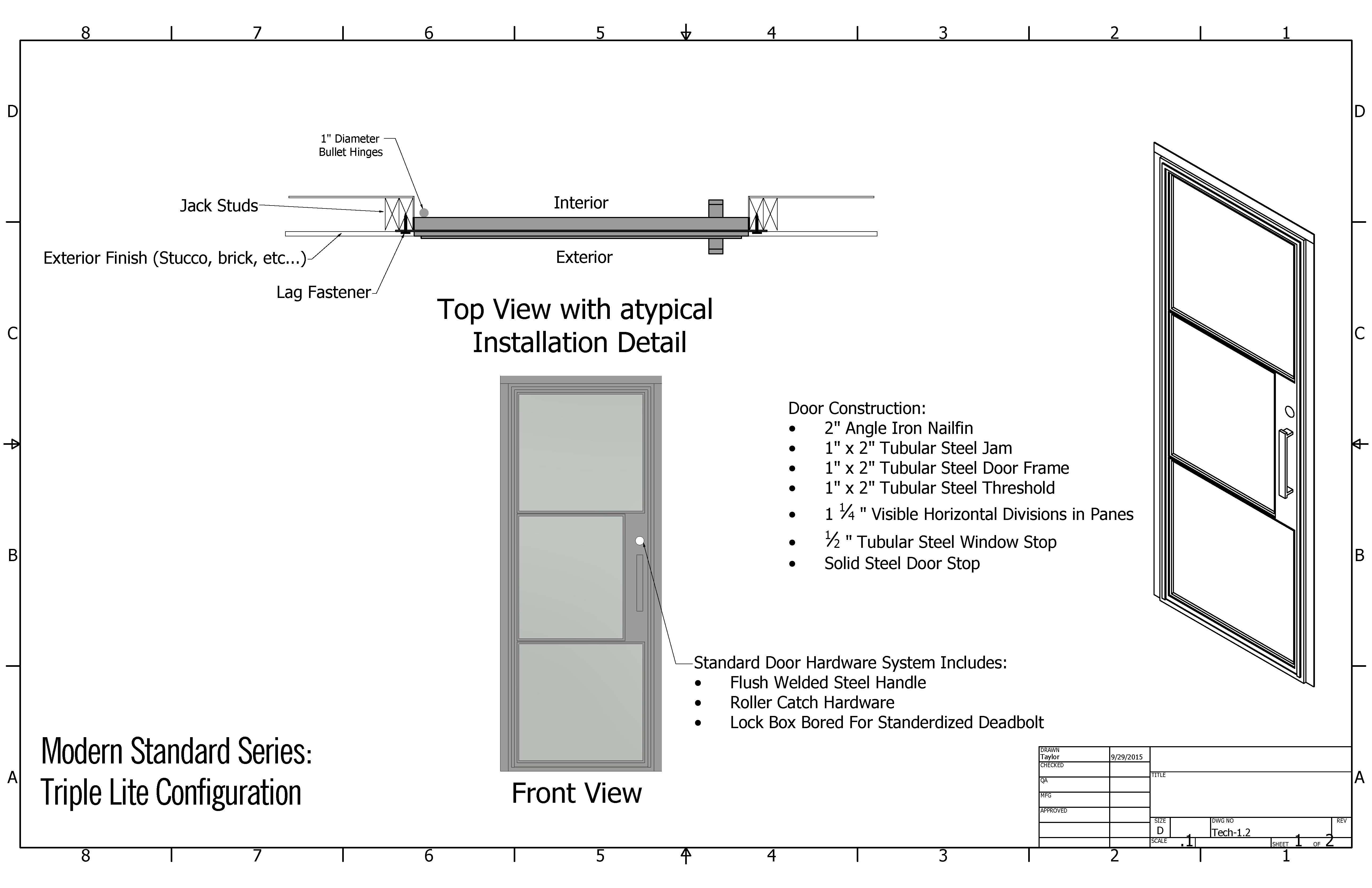 Iron Door Specifications Presidio Steel Doors Amp Windows