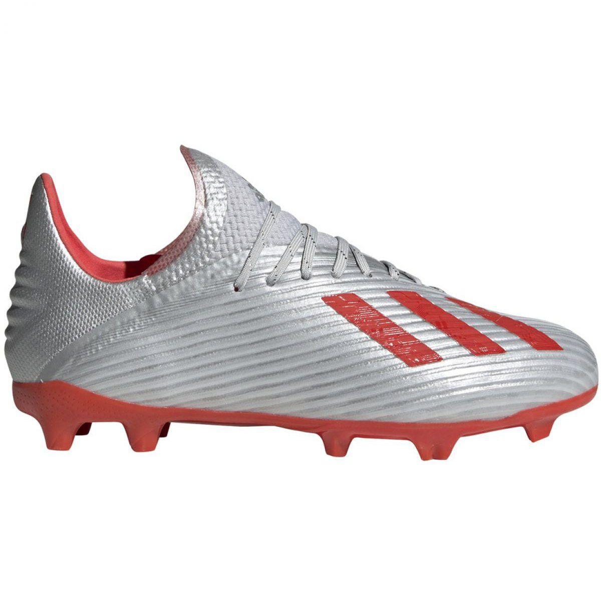 Football Boots Adidas X 19 1 Fg Jr F35683 Grey Grey Football Boots Adidas Football Football