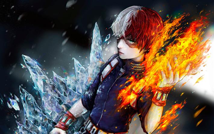 Download wallpapers Shoto Todoroki, fan art, My Hero