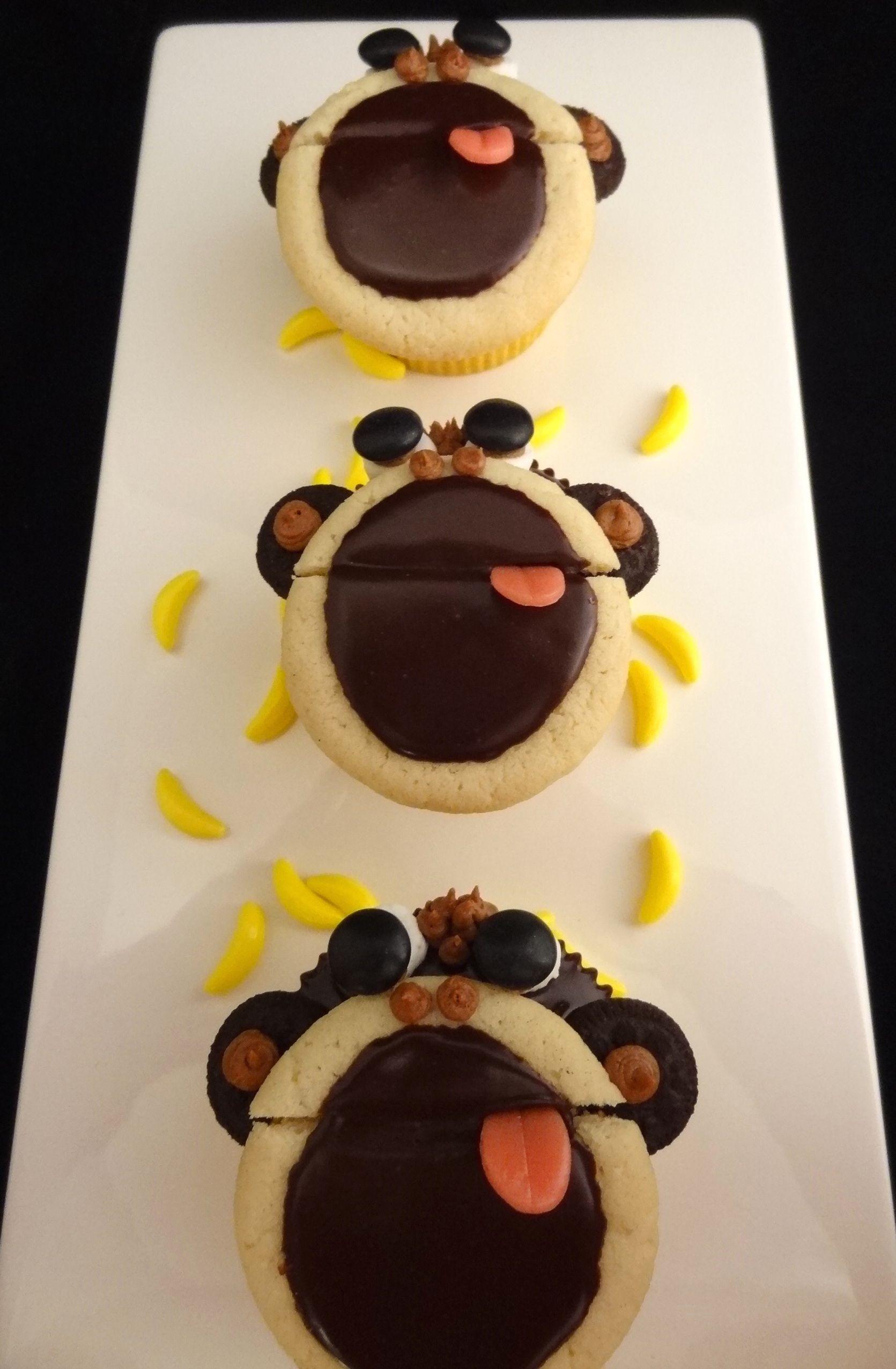 Monkey Cupcakes 2 (With images) | Cake decorating, Monkey ...