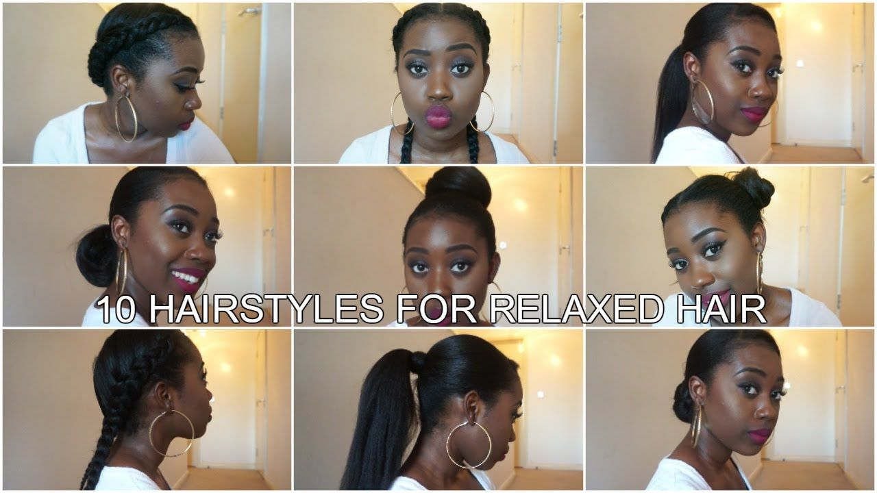 10 Easy Protective Hairstyles For Relaxed Texlaxed Hair Long Relaxed Hair Relaxed Hair Short Relaxed Hairstyles