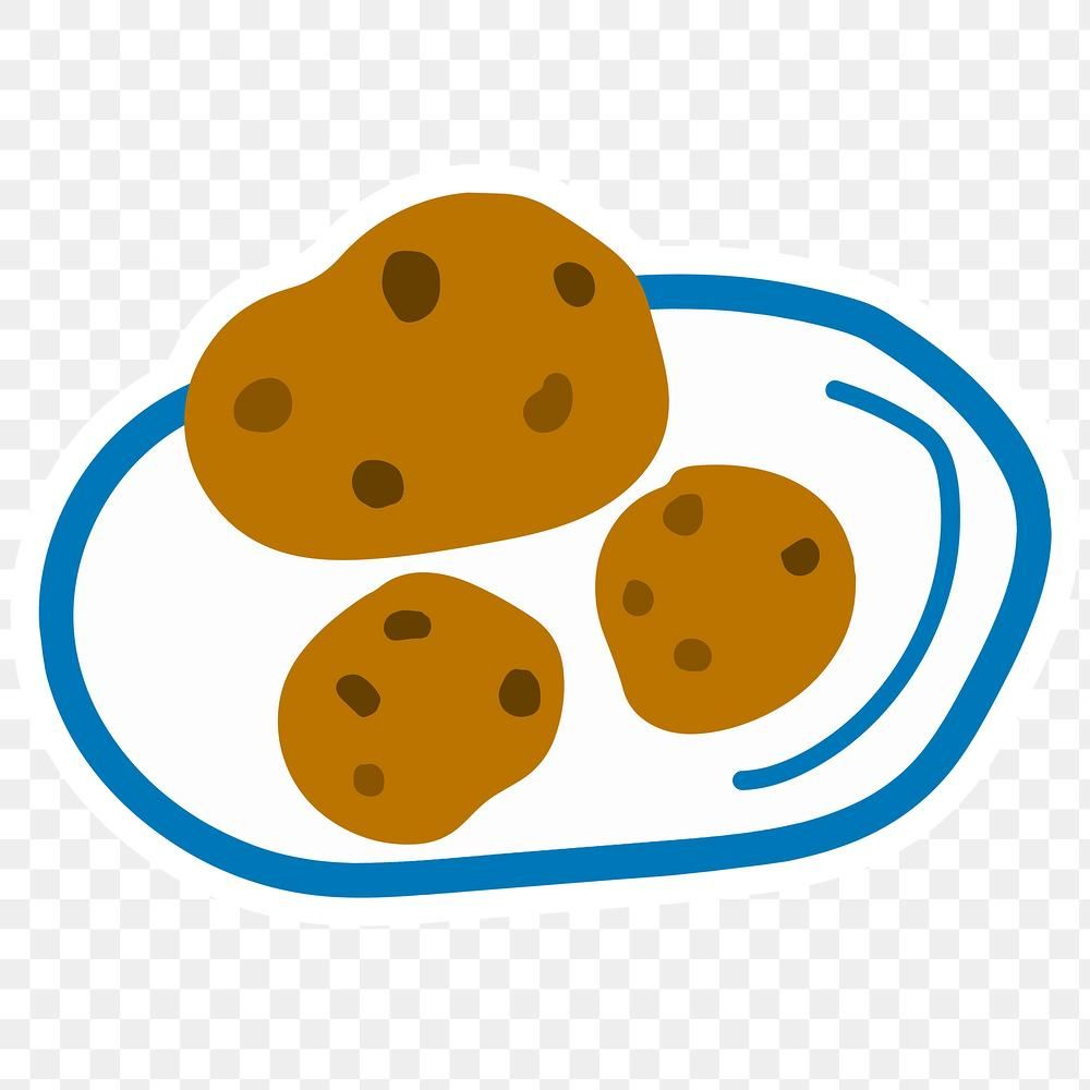 Cute Chocolate Chip Cookies Doodle Sticker With A White Border Design Element Free Image By Rawpixel Com Chocolate Chip Cookies Chocolate Chip Chip Cookies