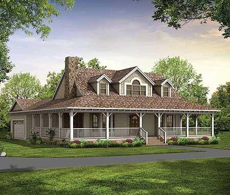 American Classic House Plan Porch House Plans Farm Style House Victorian House Plans