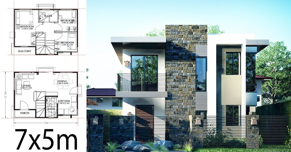 Here We Bring Your 4 Home Design Plans With Front Wide 7meters 1 Small Home Design Plan 7 5x9m W Small House Design Plans Small House Design Home Design Plan