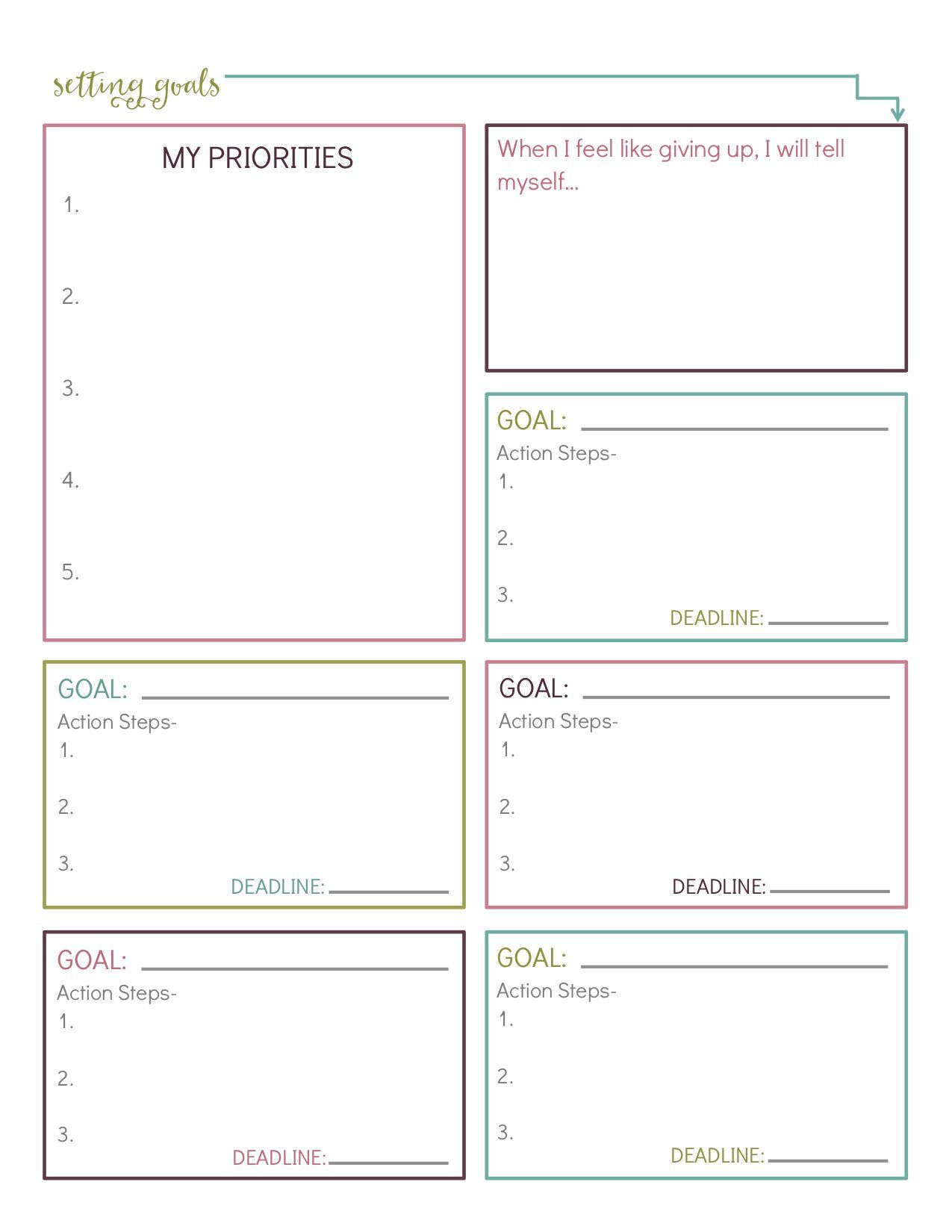 10 Free Printable Goal Setting Worksheets That Ll Help You