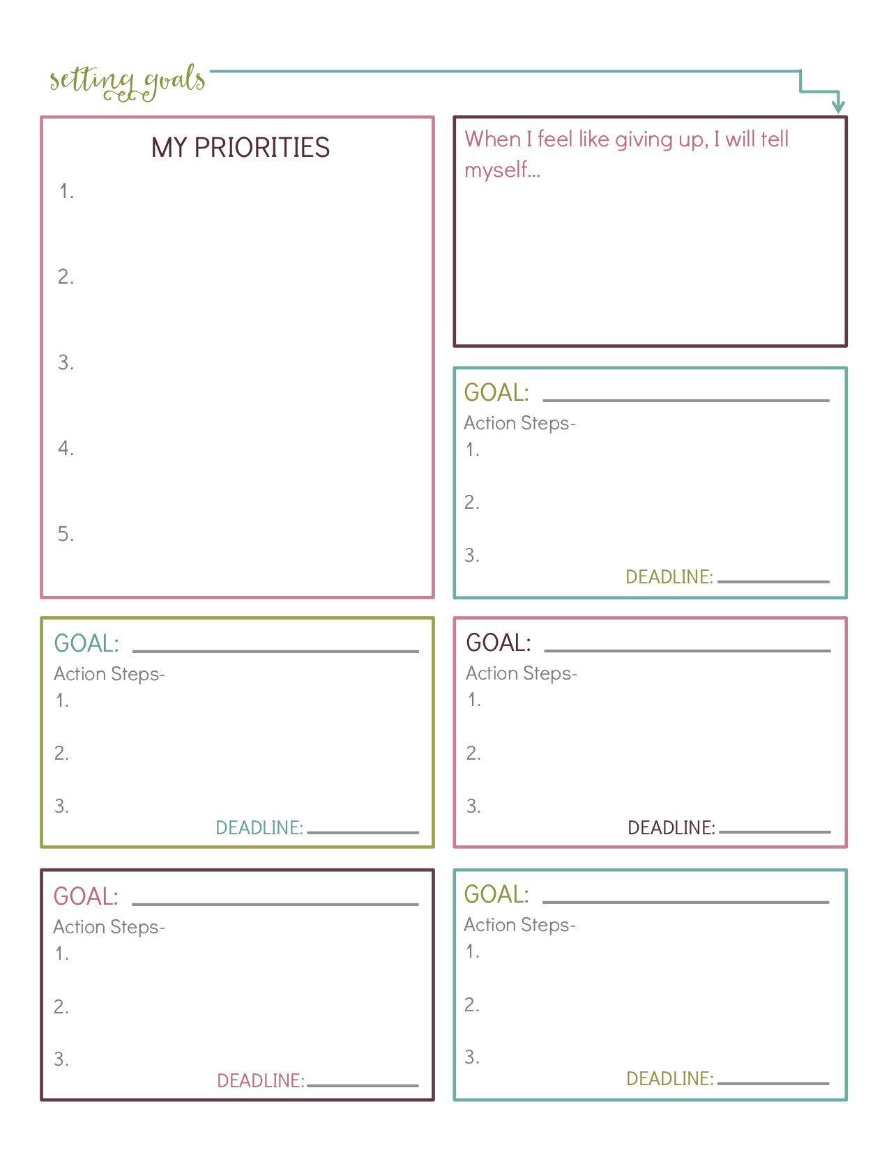 10 Free Printable Goal Setting Worksheets That Ll Help You
