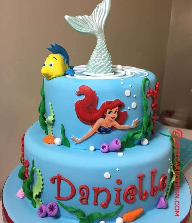Little Mermaid cake Ariel cake   Banana cake recipe, Ariel