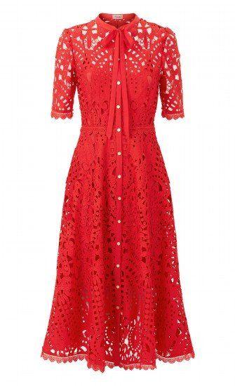8c21d4a2c085 Berry Lace Neck Tie Dress Temperly London