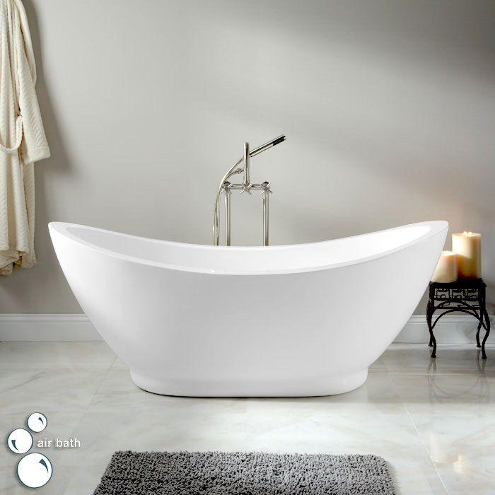 65 Quot Genoa Modern Double Slipper Air Bath Tub On