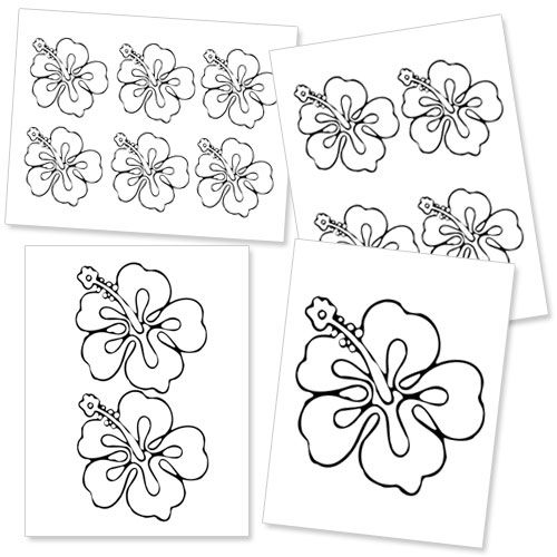 Printable Hibiscus Flower Template Printable Treats Hibiscus