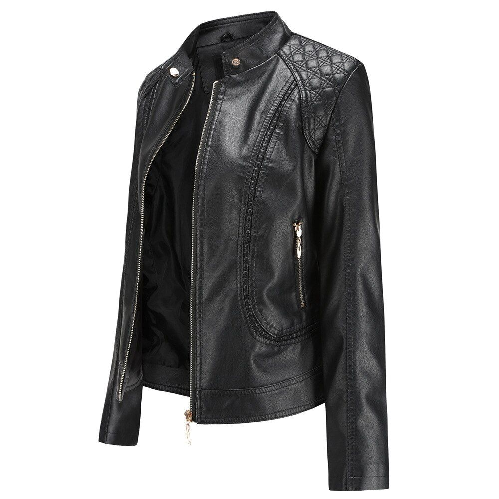 Check Price Women Faux Leather Coat Jacket Western Style Fashion Soft Slim Jacket Bomber Leather Jackets Women Leather Jacket Women Fashion Jackets For Women [ 1000 x 1000 Pixel ]