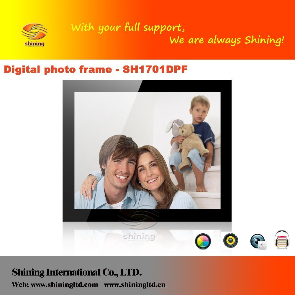 17 Inch Battery Operated Digital Photo Frame With Led Backlight In