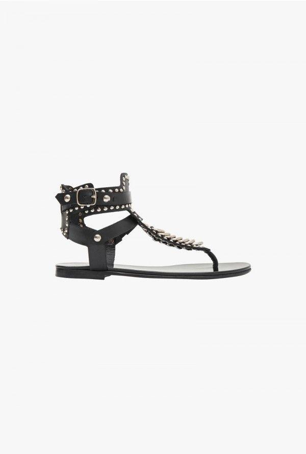 1d69ef2b7cee68 Shoes SandalsWomen's Suede For Flat Rita Balmain eWbIEDH29Y