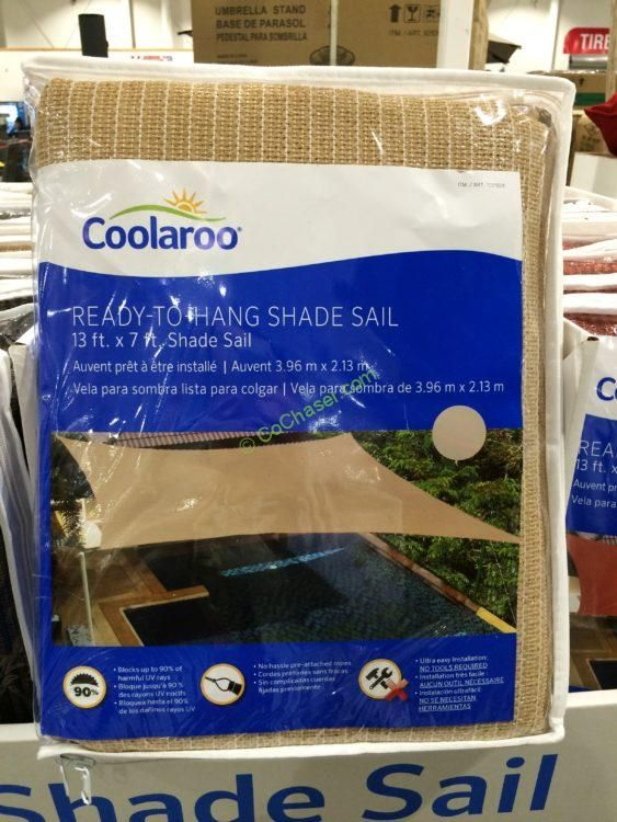 Costco 1031558 Coolaroo Shade Sail Rectangle