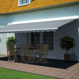 500 Euros Store De Terrasse Semi Coffre Motorise Orlando Raye 5 X 3m Terrasse Stores Exterieurs Toile Terrasse