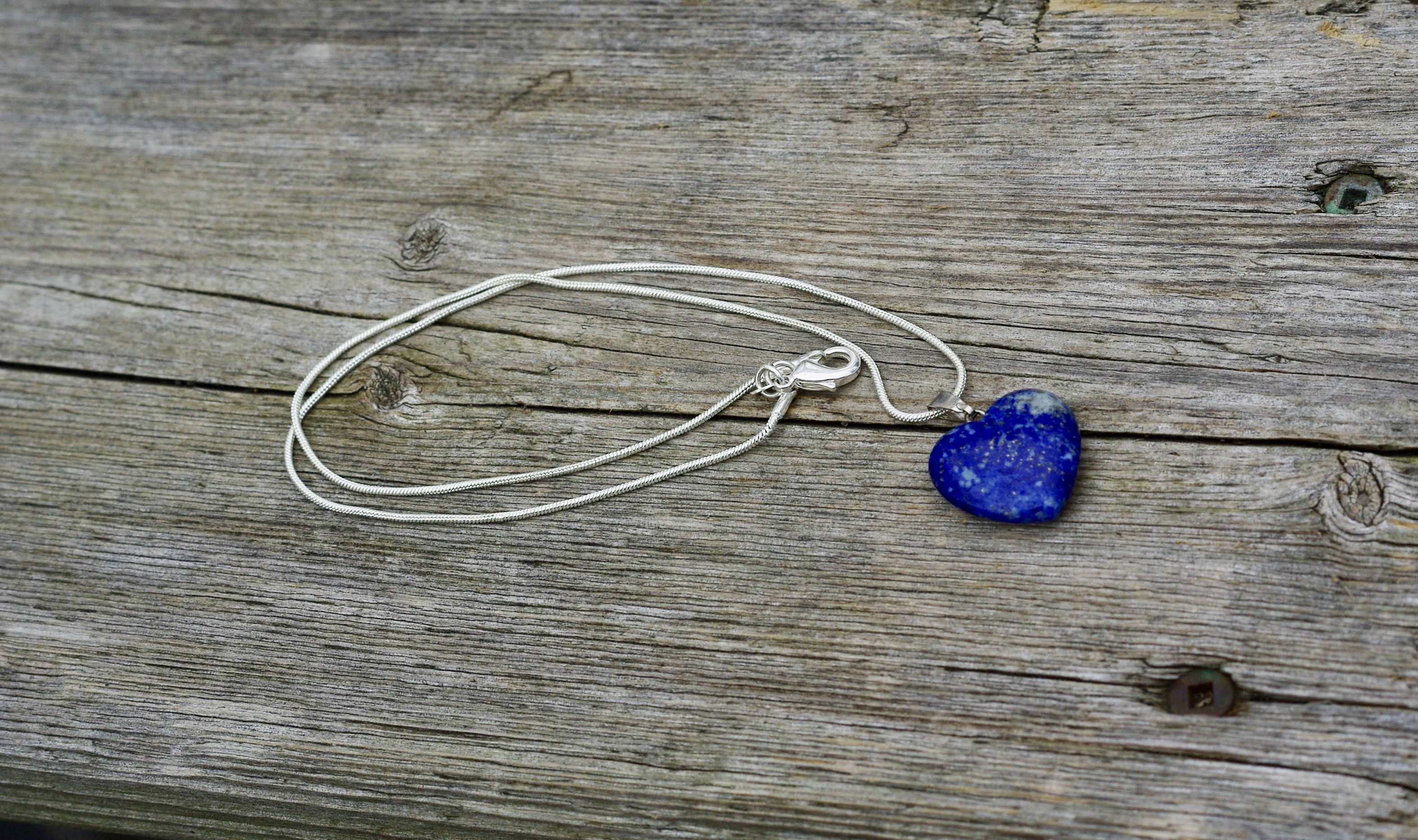"NEW Purple Glass Bead Pendant Silver Chain Choker Necklace 16/"" 30/"" UK"