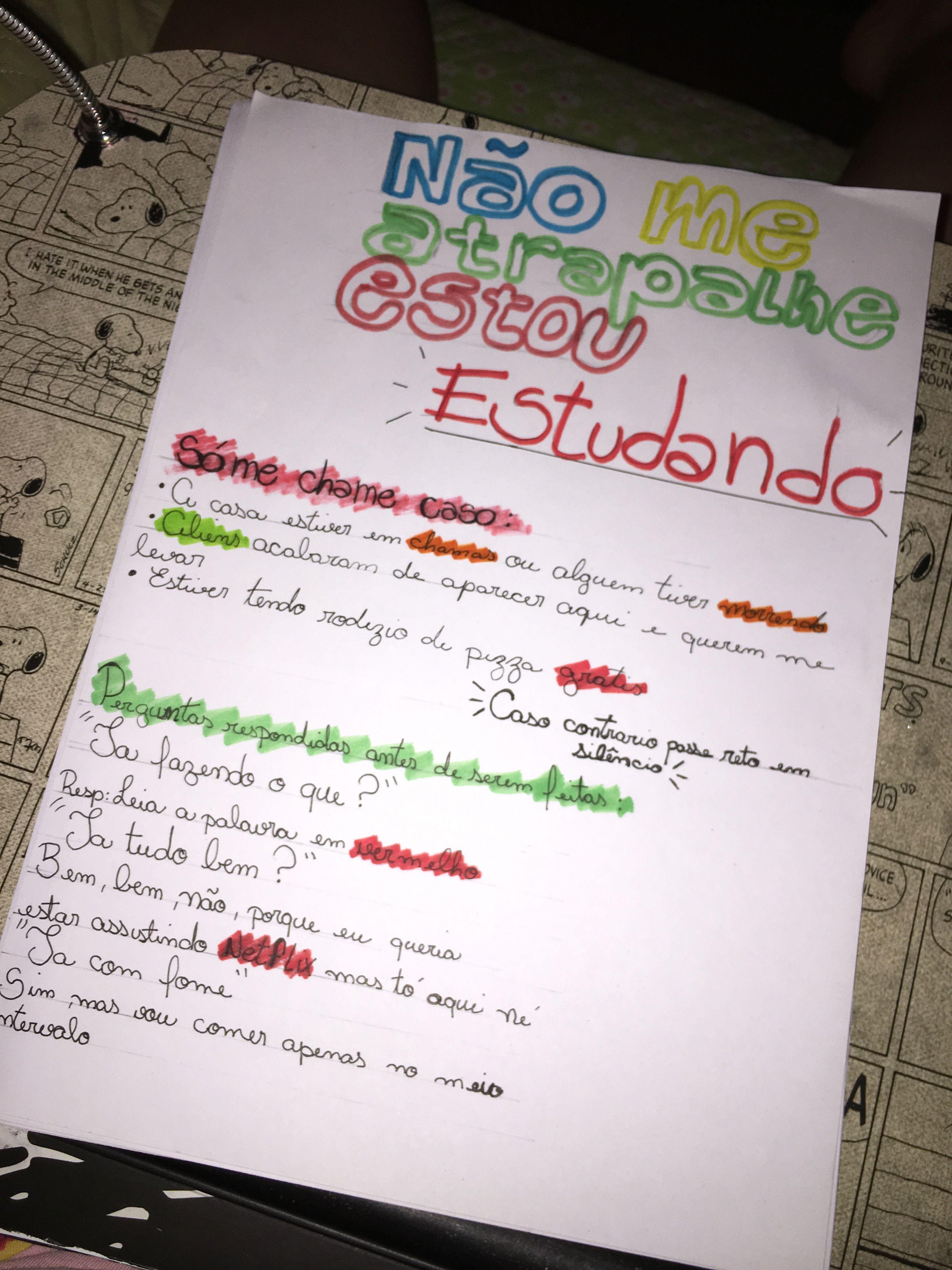 Pin De Camilly Oliveira Em Vida De Estudante Com Imagens Dicas