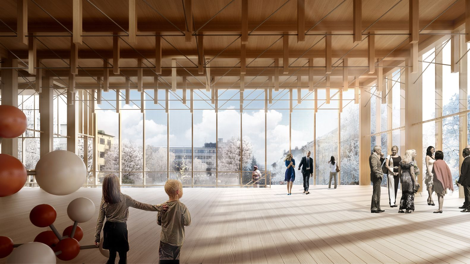 Gallery of White Arkitekter Designs Nordic Region's Tallest Timber Building for Skellefteå Cultural Center - 2