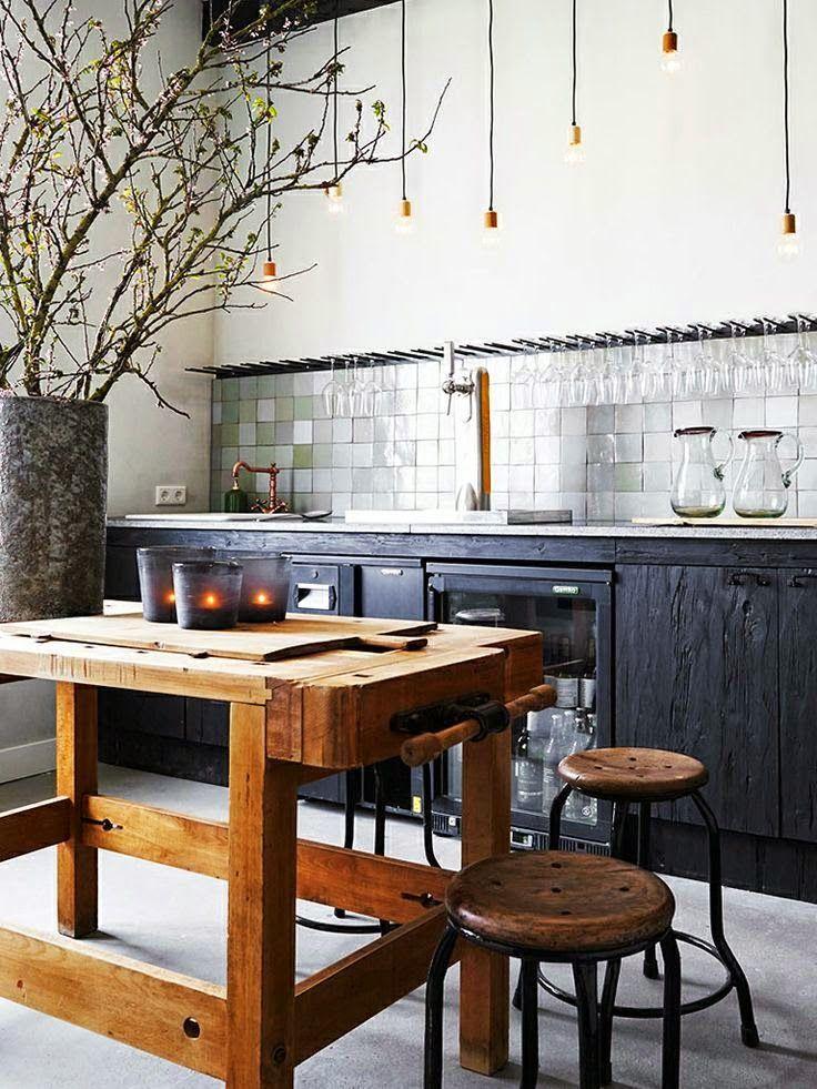 Kitchen Ideas Reclaimed Wood Metallic Backsplash Modern