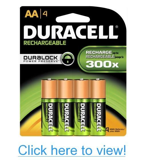 Duracell Rechargeable Aa Batteries 4 Count Packaging May Vary Duracell Rechargeable Batteries Nimh