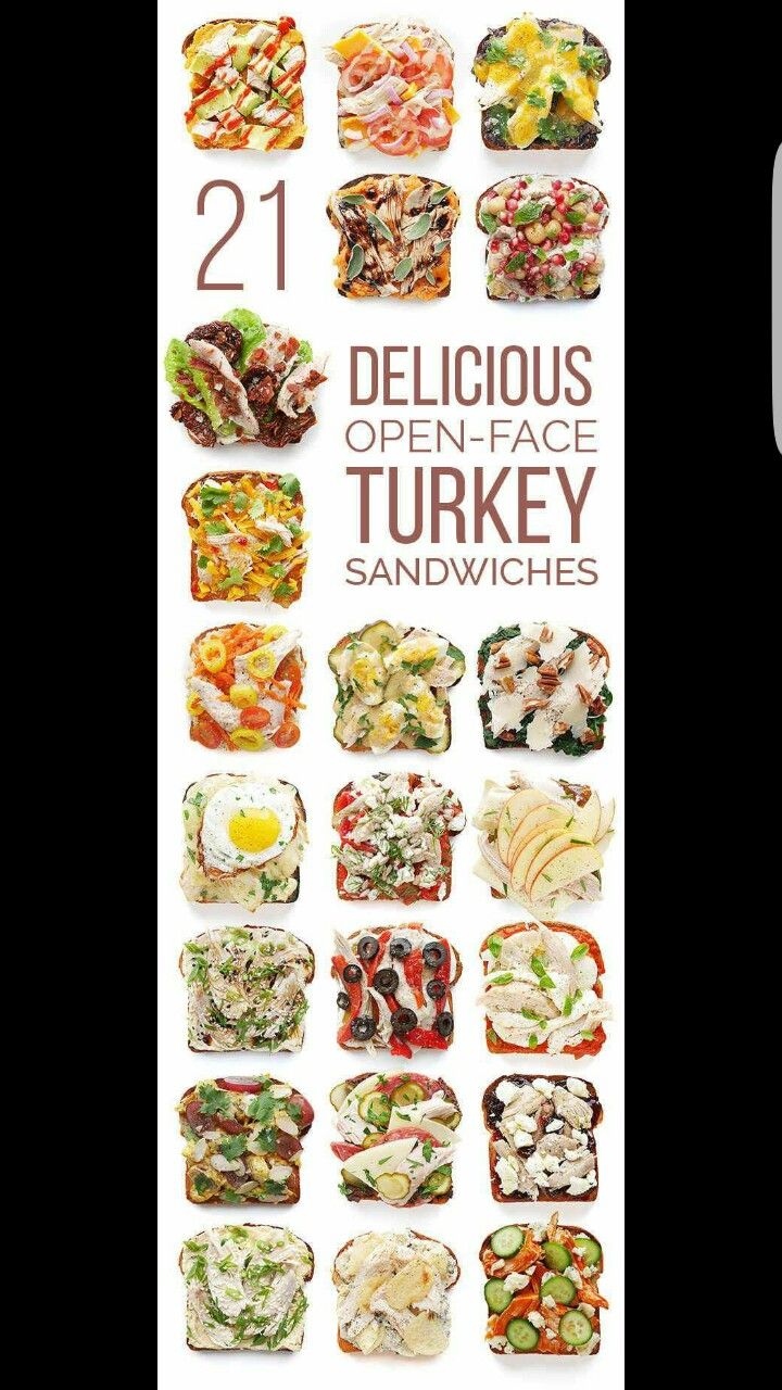 21 Open-Face Turkey Sandwiches for after Turkey Day http://bzfd.it/1LrrIcO