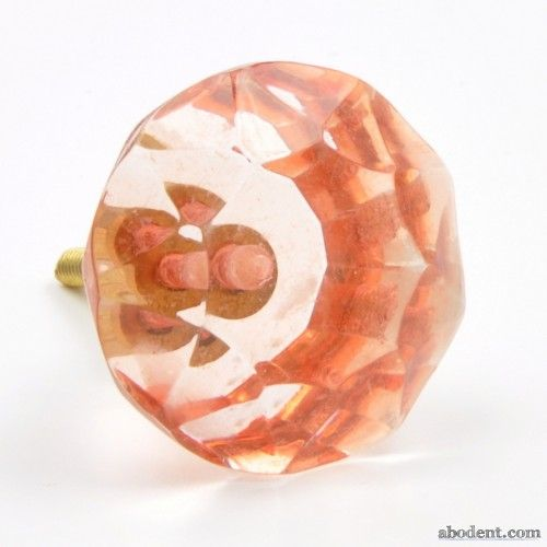 Coloured Gems Cupboard Knob | Translucent crystal style knob ...
