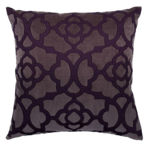 Benito Pillow 24 Aubergine Charcoal From Z Gallerie Pillows Affordable Bedroom Furniture Stylish Home Decor