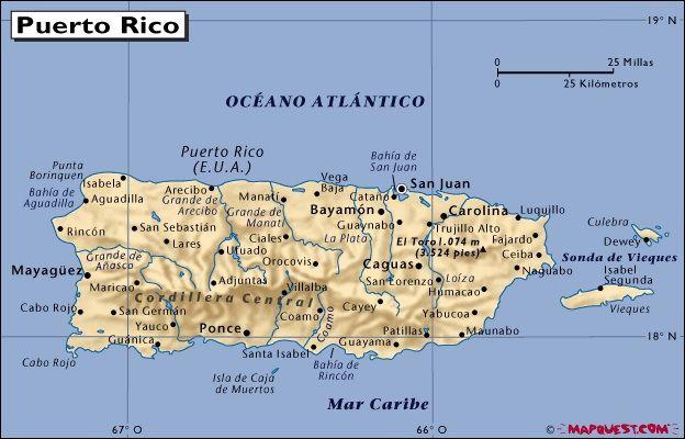 map of arecibo puerto rico Major Cities In Puerto Rico Are San Juan And Arecibo Puerto Rico map of arecibo puerto rico