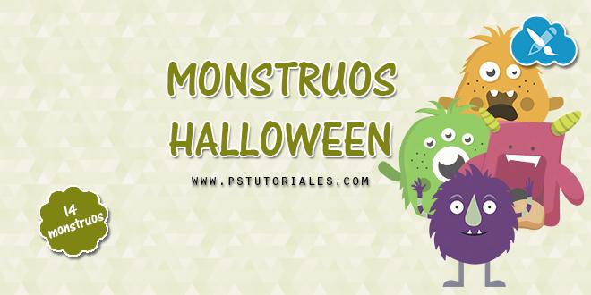 14 monstruos de Halloween | PS Tutoriales
