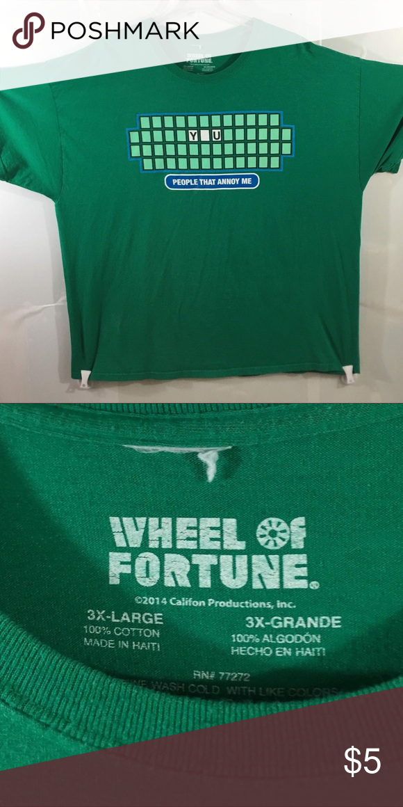 Wheel of Fortune TShirt 3XL T shirt, Wheel of fortune