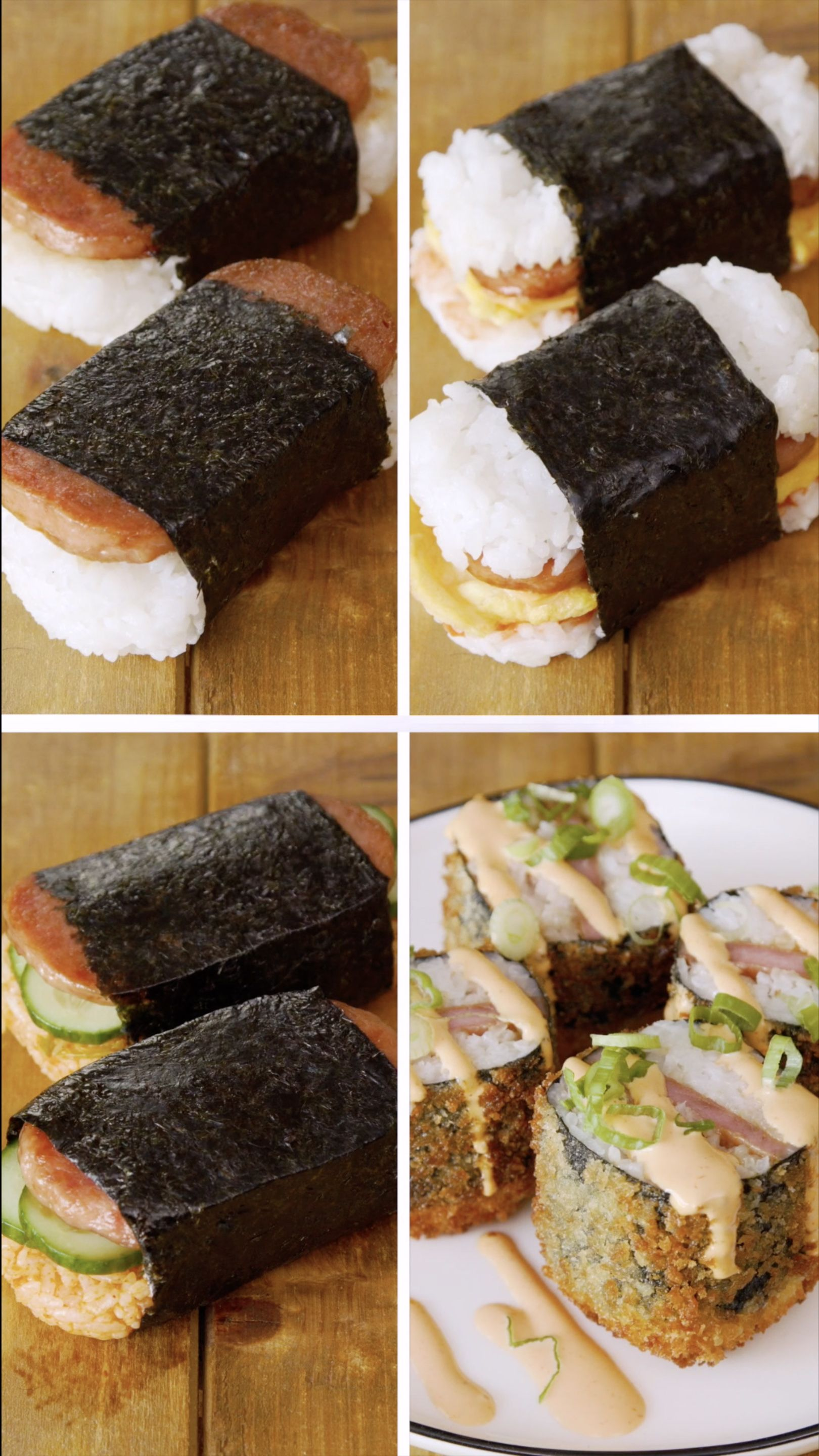 Spam Musubi 4-Ways #hawaiianfoodrecipes