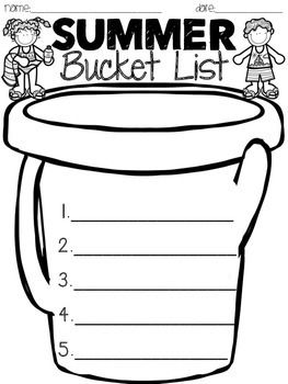 Summer Bucket List Summer Bucket Lists End Of School Year Summer Preschool